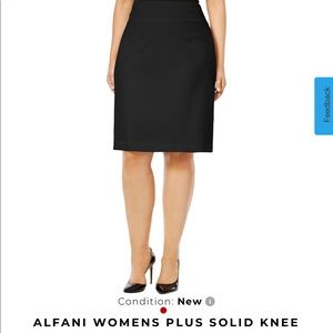 NEW Macy's ALFANI Knee Length Black Skirt 24W 2X